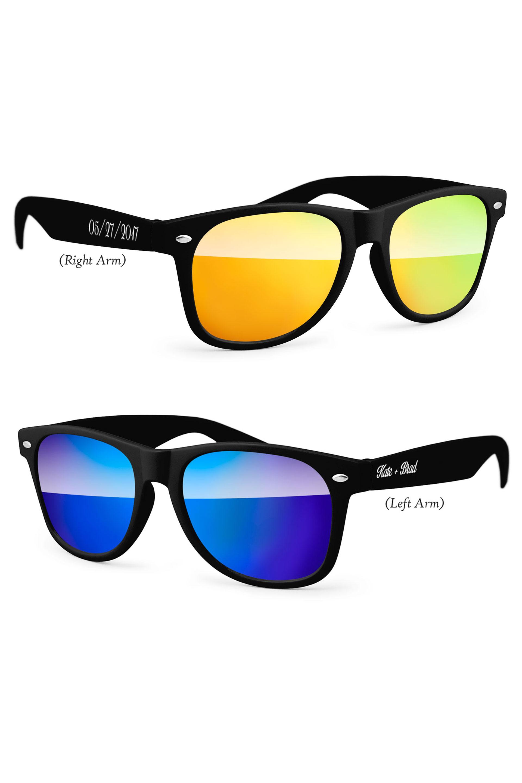 Personalized Retro Mirrored Party Sunglasses | David\'s Bridal